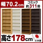 日本製 大洋 エースラック 本棚  (幅70.2×奥行31×高さ178cm)
