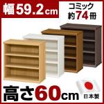 日本製 大洋 エースラック 本棚  (幅59.2×奥行31×高さ60cm)