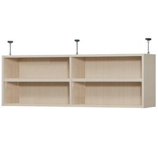 ワイドオーダー本棚 天井つっぱり上置棚 奥行31cm×高さ41cm×幅90〜120cm