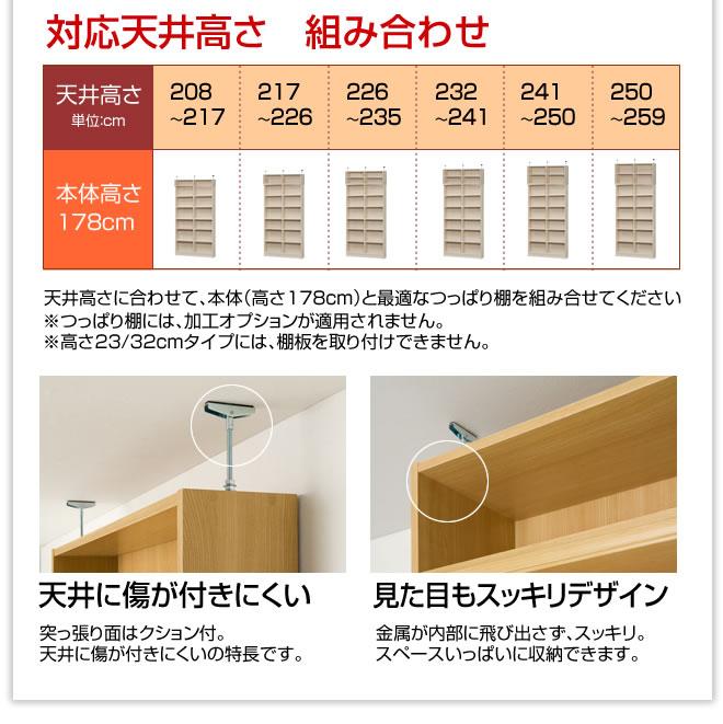 対応天井高さ 組み合わせ例